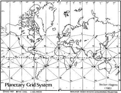 карта земли сетка